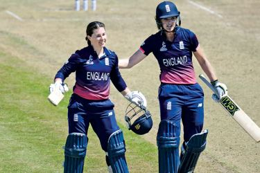 Tammy Beaumont and Sarah Taylor's record-breaking stand of 275 laid the foundations for England's 68-run win over South Africa in their Women's World Cup group match at Bristol on Wednesday.