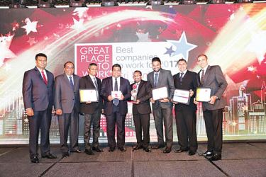 DHL Express Sri Lanka team at the Great Place to Work awards presentation