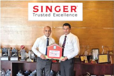 Rohan Perera, Business Development Manager, Singer Sri Lanka, Mahesh Wijewardene   Director  Sales and  Commercial, Singer Sri Lanka.