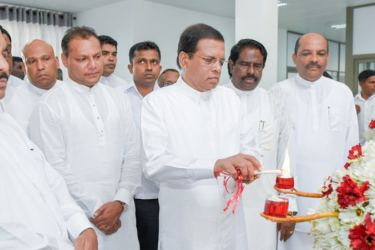 President Maithripala Sirisena opening the  newly built administration building at the Irrigation Training Institute in Galgamuwa.