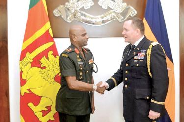 Outgoing Defence Attaché at the US Embassy in Sri Lanka Lieutenant Colonel Robert Knox Ross  paid a courtesy call on new Commander of the Army Lieutenant General Mahesh Senanayake on July 7