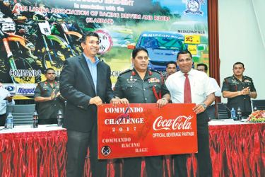 Shamal Gunawardene – Country Sales and Commercial Manager, Major General,Ralph Nugera - Chairman Commando Challenge 2017 and Nishan Wasalathanthri – President, SLARDAR