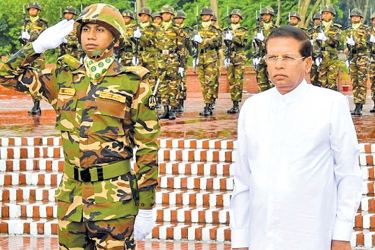 President Maithripala Sirisena paid floral tributes to the National Martyrs' Memorial of Bangladesh, yesterday (13).The National Martyrs' Memorial was set up in the memory of the valour and the sacrifice of all who gave their lives in the Bangladesh Liberation War in 1971. Picture by Sudath Silva