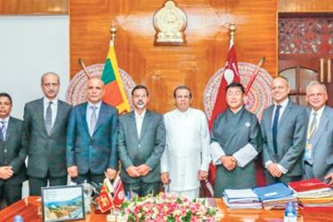 President Maithripala Sirisena with delegates attending the 8th Meeting of the SAARC Ministers of Law and Order