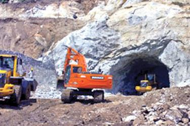 A main tunnel under construction