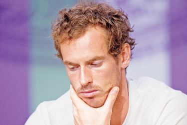 Andy Murray after his defeat in the quarterfinal. AFP