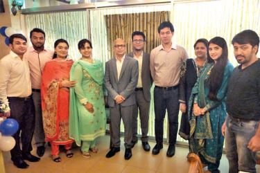 In Dhaka, MTI CEO Hilmy Cader with the MTI Bangladesh current team and alumni