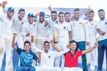 The champion Central Province Under 23 team is seen here with the trophy