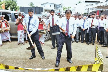 Access Group Chairman Sumal Perera attending the ground breaking ceremony at the auspicious time