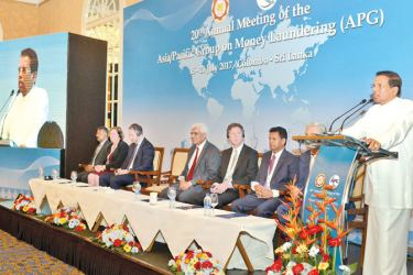 President Maithripala Sirisena speaks at the inauguration of the conference