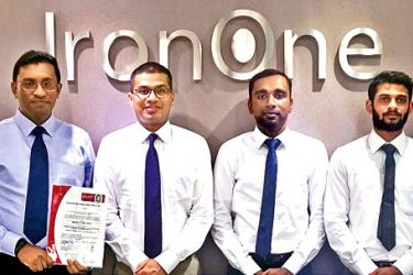 IronOne's BoardPAC ISO Committee (from left): Head of Delivery Tharindu Wickramasekera, Associate Manager - Systems Buddhika Abeygooneratne, Chief Operating Officer Rajitha Kuruppumulle, Technical Lead Thusyanthan Arulsodhy, Associate System Engineer Dexter Perera and Senior Software Engineer Vishwa Nawarathne