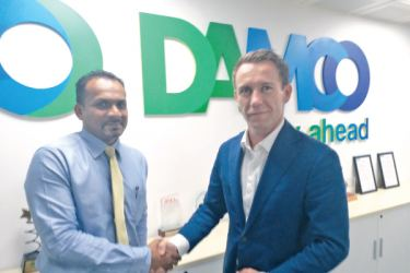 Chaminda Hewamallika, Country Manager with CEO for India-Middle East and Africa Region, Charles Van der Steene.