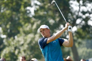 Jordan Spieth hits off the 15th tee during the first round of the World Golf Championships - Bridgestone Invitational at Firestone Country Club South Course on August 3 in Akron, Ohio. AFP