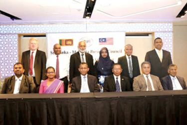 Officials at the Annual General Meeting of Sri Lanka – Malaysia Business Council