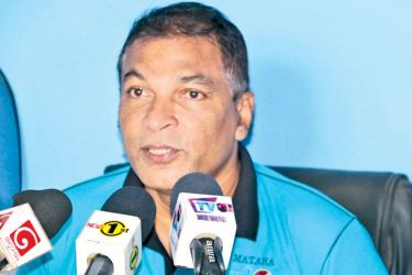 Vice president of the MDCA and Chairman of the MSL T20 organizing committee, Raj Chandralal addressing the media