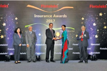 Thusharie Dissanayake (Head of Technical)  receiving the award for 'Best Product Innovation'