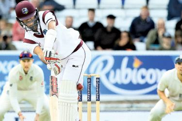 Shai Hope rare feat of two centuries in a first-class match at Headingley, Leeds. AFP