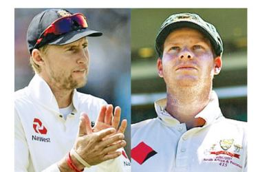 England captain Joe Root will go head to head with Australian captain Steve Smith in under three months time.