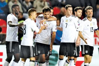 Germany secured a 2-1 win over Czech Republic as they edged closer to sealing their spot in the FIFA?World Cup 2018 in Russia.