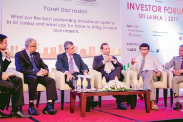 The panel discussion underway