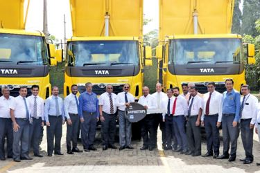 DIMO and Tata Motors Teams with the NEM Construction team at the handover ceremony