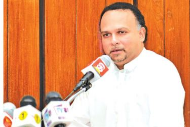 Minister Navin Dissanayake. Picture by Wasitha  Patabendige