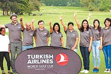 The winners of the Turkish Airlines Golf tourney