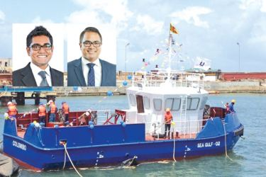Viraj De Silva, President, Engineering Services and Infrastructure Cluster of MTD Walkers PLC and Director of Walkers Colombo Shipyard (Pvt) Ltd and Image of Seagulf 2