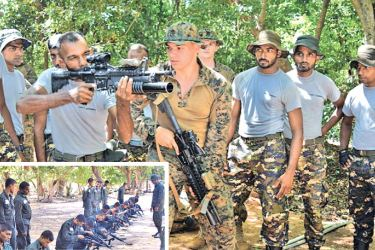 US and Sri Lankan Navies engaged in the joint operation