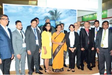 Uttar Pradesh Tourism Minister Rita Singha Joshi with Sri Lanka Tourism officials and industry participants