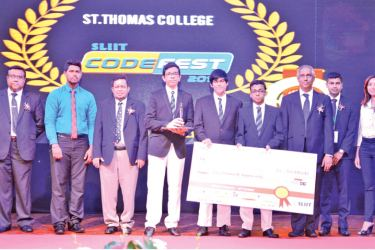 Internet of Things Gold winners St. Thomas College.