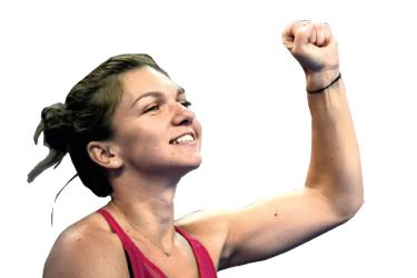 Simona Halep of Romania acknowledges the crowd after winning her women's singles match against Maria Sharapova of Russia at the China Open tennis tournament in Beijing on October 4. AFP