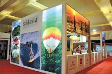 A glimpse of the Sri Lankan pavilion which won the best decorative stand