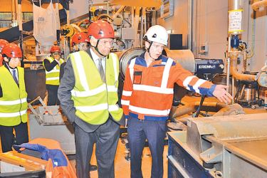 Prime Minister Ranil Wickremesinghe at Fortum Facility in Finland