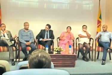 The panelists at the event. Picture by Sulochana Gamage