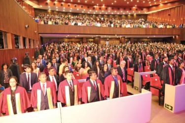 A section of the graduates and their invitees