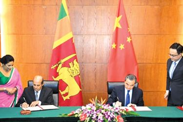 The two Ministers signed the certificate for the exchange of the instruments of ratification of the  Treaty between China and Sri Lanka on mutual legal assistance in criminal matters.