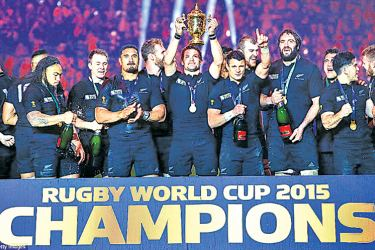 The reigning World Cup Rugby champions  New Zealand's All Blacks.