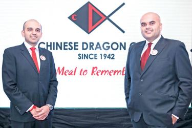(Left) Chinese Dragon Café, Managing Director, Naishadh Udeshi  and (Right) Chinese Dragon Café, Director, Saurabh Udeshi  at the event