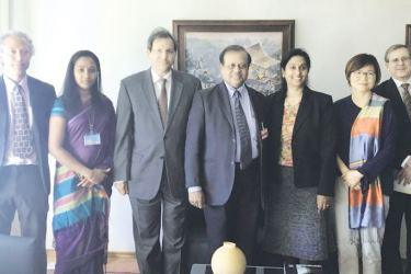 Science, Technology and Research Minister Susil Premajayantha (Centre) along with senior officials of the UNCTAD in Geneva.
