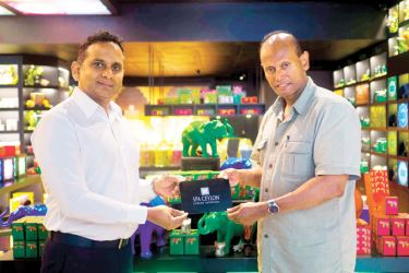 Donation initiating collaboration between Managing Director Spa Ceylon Shiwantha Dias and  Sri Lanka Wildlife Conservation President Ravi Corea