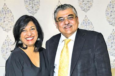 Ashish Bhasin, Chairman and CEO of Dentsu Aegis Network South Asia with Neela Marikkar, Chairperson, Grant Group