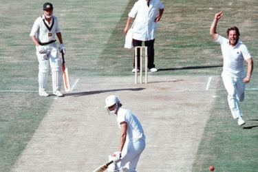 'I bowled well, but it shouldn't have been enough to make the Aussies crumble that way' said England's Ian Botham after taking five wickets for one run in five overs.