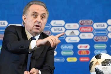 Russian deputy prime minister Vitaly Mutko speaks during a press conference on November 30, prior to the Final Draw for the 2018 FIFA World Cup. AFP