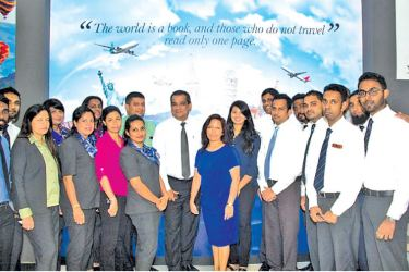 Director Hemas Travels Riza Ahamat and General Manager Jackie Weeraratne  with the team