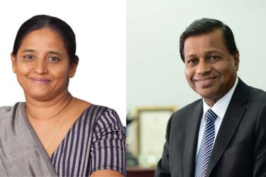M. S. Kiriwandeniya, Chairperson of SANASA Development Bank PLC  and Chief Executive Officer of SDB, Nimal C. Hapuarachchi