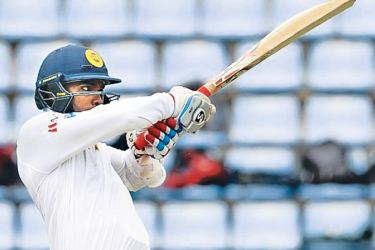 Sri Lanka batsman Dhananjaya de Silva one of a handful of cricketers to get off the mark in a Test with a six.
