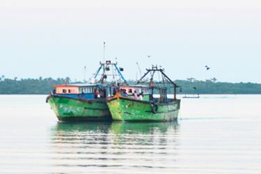 The two trawlers taken into custody.