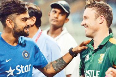 Rival captains Virat Kohli and AB de Villiers