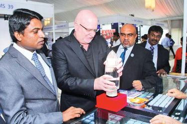 The 10th annual 'Jewels 2017' exhibition conducted by Gemologists' Association of Sri Lanka (GASL) concluded at the Hotel Taj Samudra Colombo. There were over 50 stalls including government institution stalls of the Gem and Jewellery Authority, Gem and Jewellery Training and Research Institute, Geological Survey and Mining Bureau and Gemological Association of the University of Moratuwa. Over 6,000 buyers including nearly 1,000 foreigners participated in the event. Some buyers at the event. Picture by Sudam